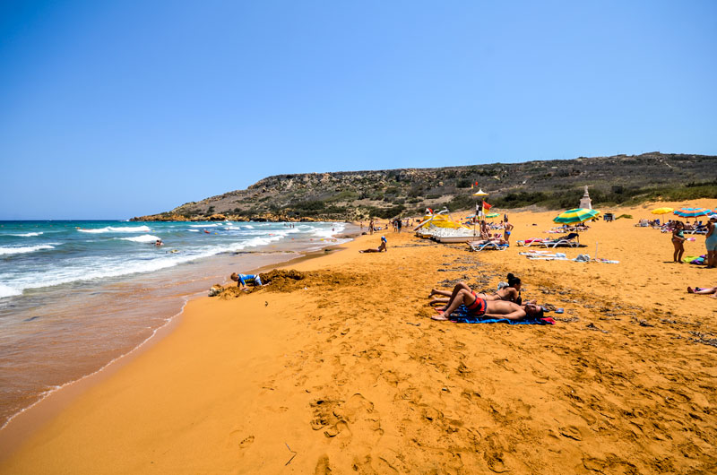 Relaxing at Ramla Bay beach